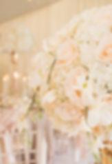 Silk Faux Fake flower centrepiece wedding