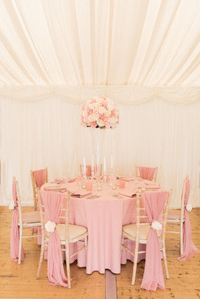 Posh in Pink Lavish Floral Table set up