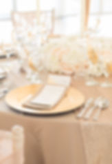 Gold Charger Plates, Wedding Menu, Table Centrepiece, Essex
