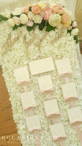 Floral Freestanding Seating Plan