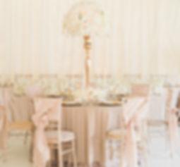 Luxury Wedding Table Centrepiece Gold Blush Champagne