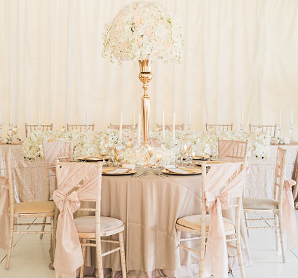 Luxury Wedding Table Centrepiece Gold Blush Champagne
