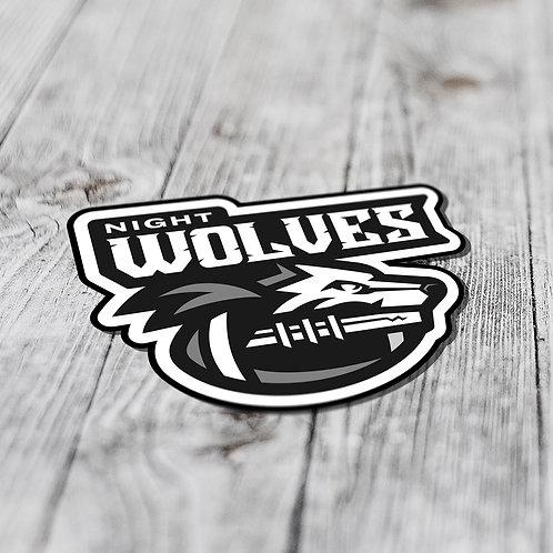 "Night Wolves - Sticker - 4""x4"""