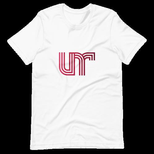 UNR - 3 - White/Red - Short-Sleeve Unisex T-Shirt
