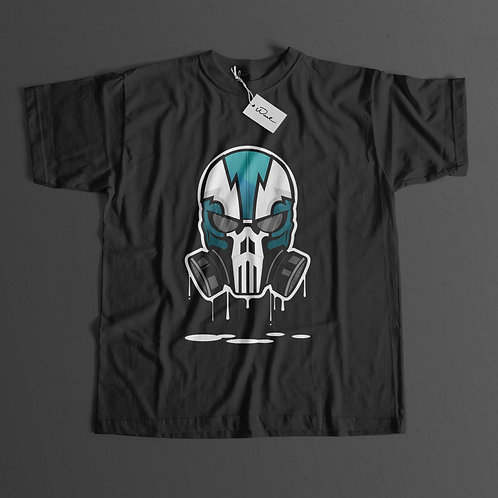 Green Skull Short Sleeve T-shirt (Black)