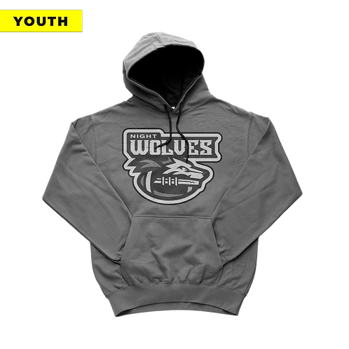 (YOUTH) Night Wolves - Grey Hoodie