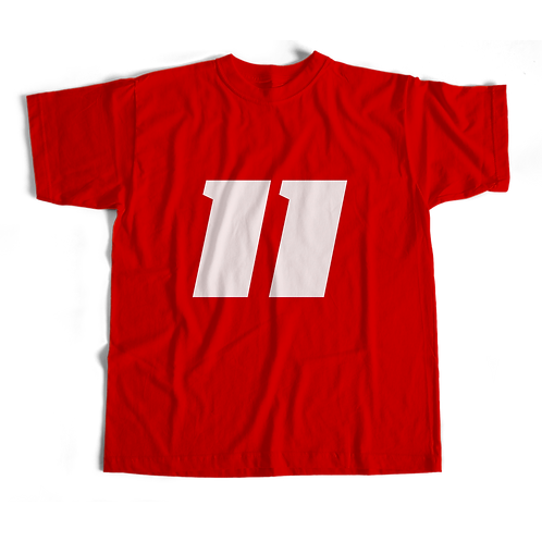 11 T-Shirt (Red) - Short-Sleeve Unisex