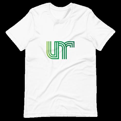 UNR - 3 - White/Green - Short-Sleeve Unisex T-Shirt