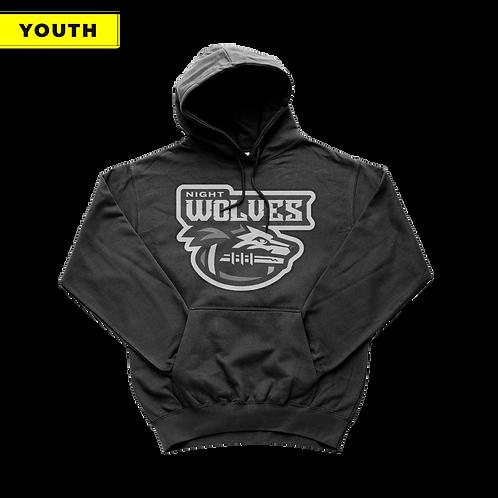 (YOUTH) Night Wolves - Black Hoodie
