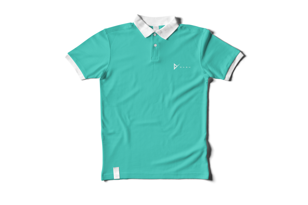 02_Polo Shirt Mock-up_front side_top vie