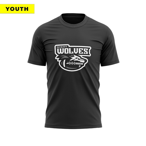 (YOUTH) Night Wolves - Dri-Fit Black Tee