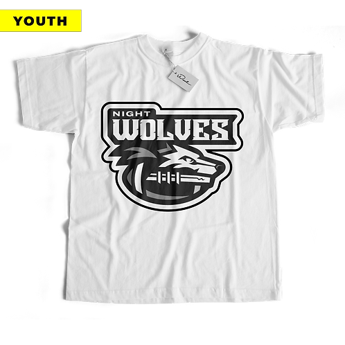 (YOUTH) Night Wolves Tee - White