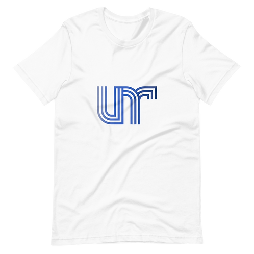 UNR - 3 - White/Blue - Short-Sleeve Unisex T-Shirt