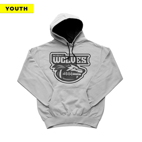 (YOUTH) Night Wolves - White Hoodie