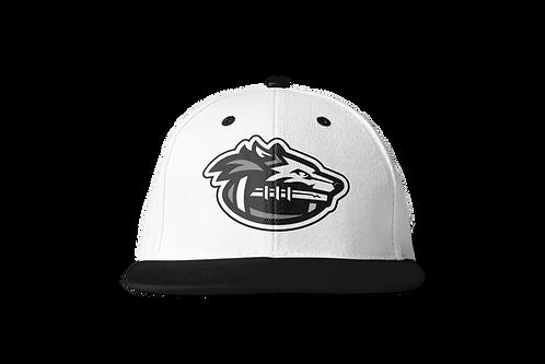 Night Wolves Snapback Hat - White