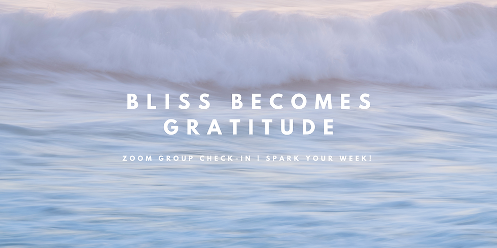 """""""BLISS Becomes GRATITUDE"""" - Spark Your Week! Members"""