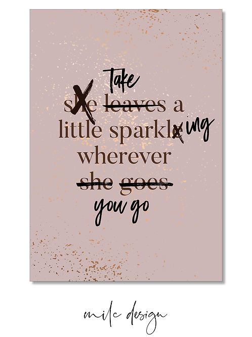 NOTECARD 'Take a little sparkling'