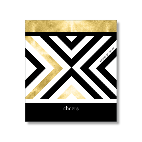 WINE LABEL 'cheers' {geometric}
