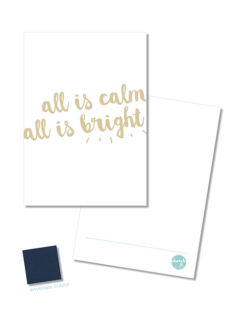 NOTECARD 'All is calm'