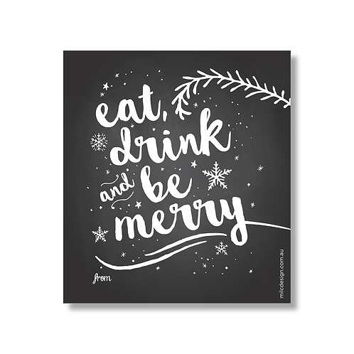 WINE LABEL 'Eat, drink & be merry'
