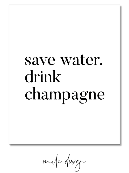 8x10 PRINT Save water