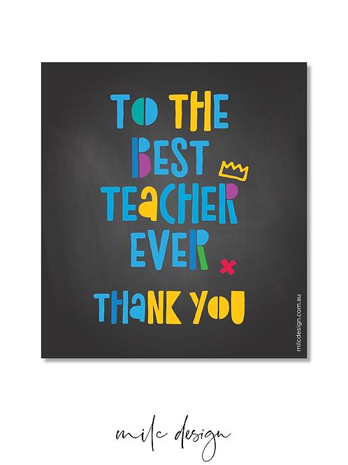 WINE LABEL 'Best teacher ever'
