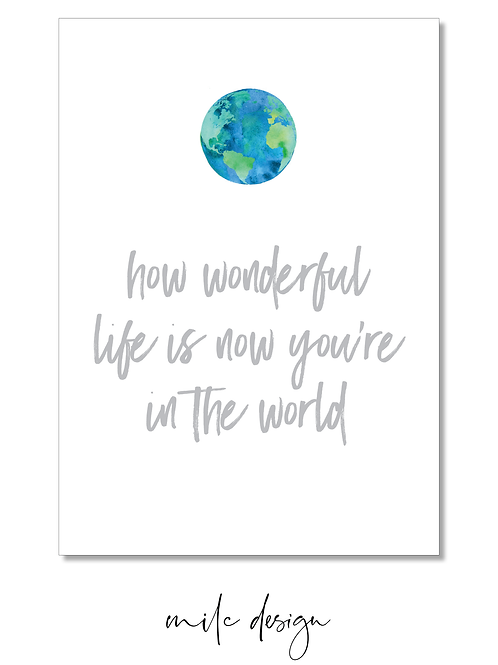 NOTECARD 'How wonderful'