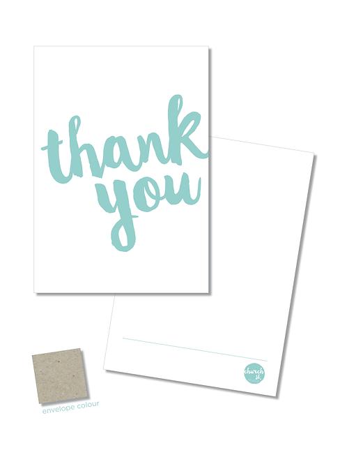 NOTECARD 'Thank you'