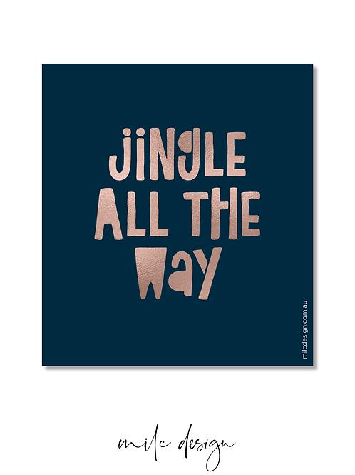 WINE LABEL 'Jingle all the way'