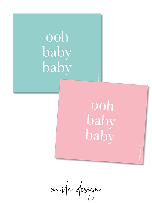 WINE LABEL 'Ooh baby baby' pink or blue