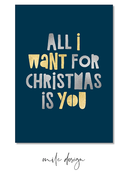 NOTECARD 'All I want for Christmas #2'
