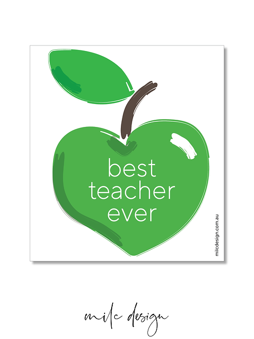 WINE LABEL 'Best teacher ever'