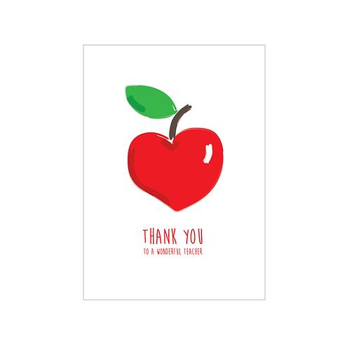 NOTECARD 'Apples for the teacher'