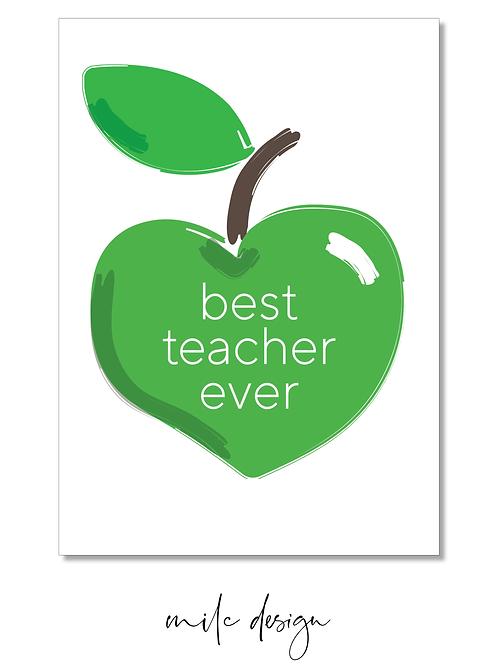 NOTECARD Teacher 'Best teacher ever'