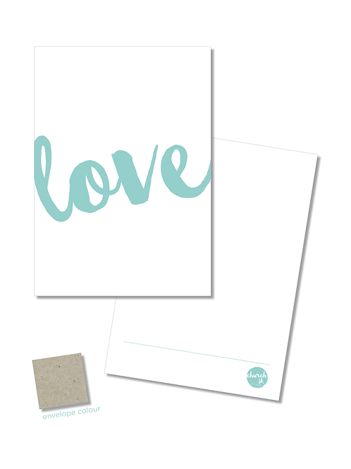 NOTECARD 'Love'
