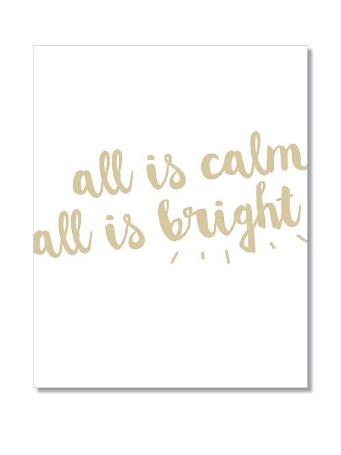 8x10 PRINT 'All is calm'