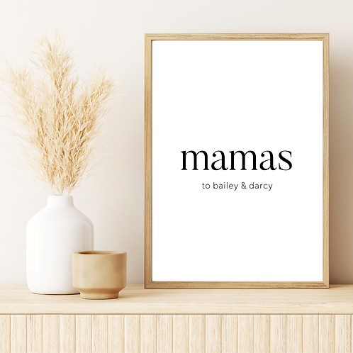 'mamas to' 5x7in Printable File