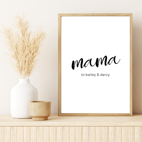 'mama to' 5x7in Printable File