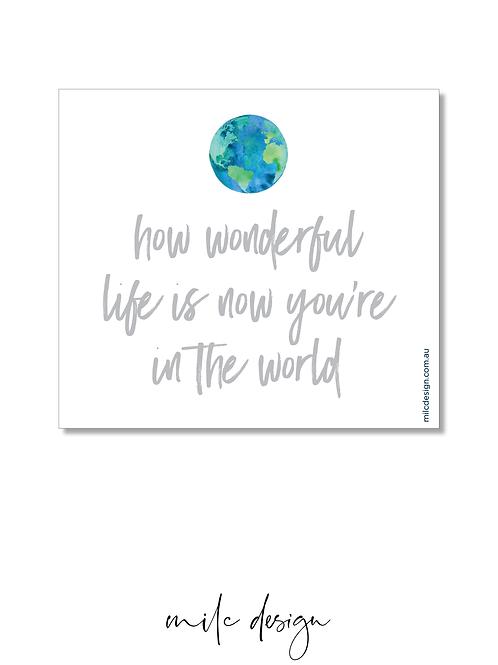 WINE LABEL 'How wonderful'