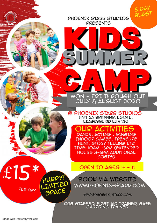 Copy of Kids Summer Camp Flyer - Made wi