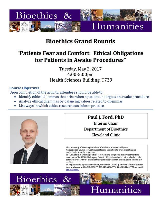 Bioethics Grand Rounds at UWMC