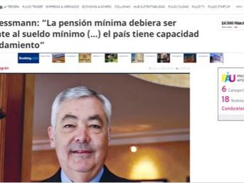 """Entrevista a Ricardo Lessmann """"La pensión mínima debiera ser equivalente al sueldo mínimo (...)"""