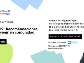 Webinar: COVID-19 Recomendaciones para prevenir en Comunidad
