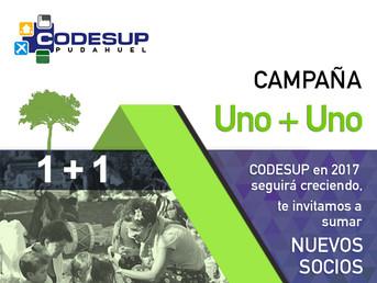 Campaña Uno + Uno,  Nuevos Socios para CODESUP