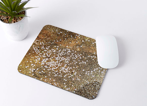 Gold Glitter Stars - Mousepad