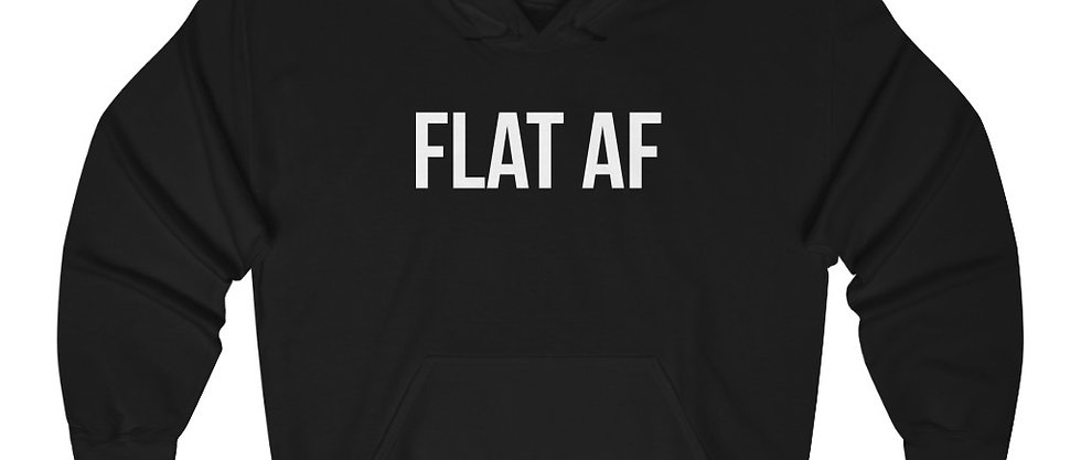 FLAT AF - Unisex Heavy Blend™ Hooded Sweatshirt