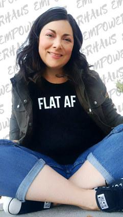 FLAT AF Going Flat Sassy Breast Cancer A
