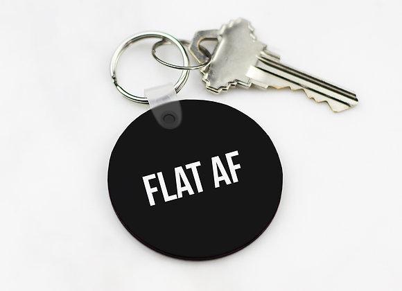 FLAT AF - Keychain