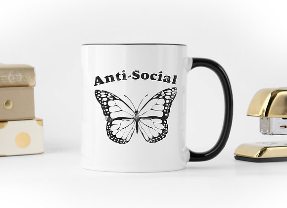 Anti-Social Butterfly - Coffee Mug