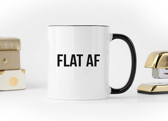 FLAT AF - Coffee Mug